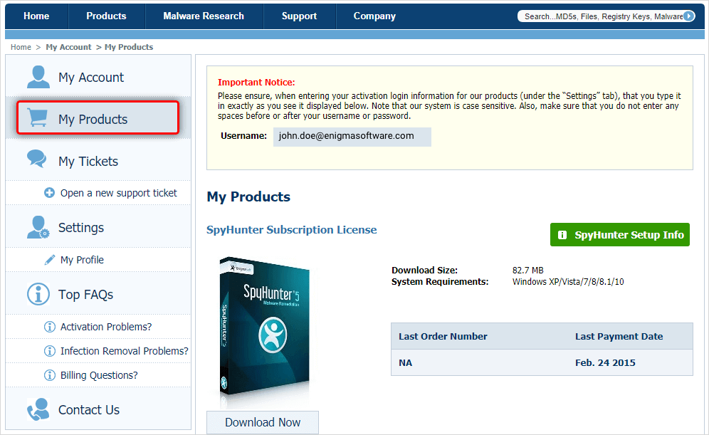 SpyHunter 5 Email and Password [Crack + Keygen] Download 2020