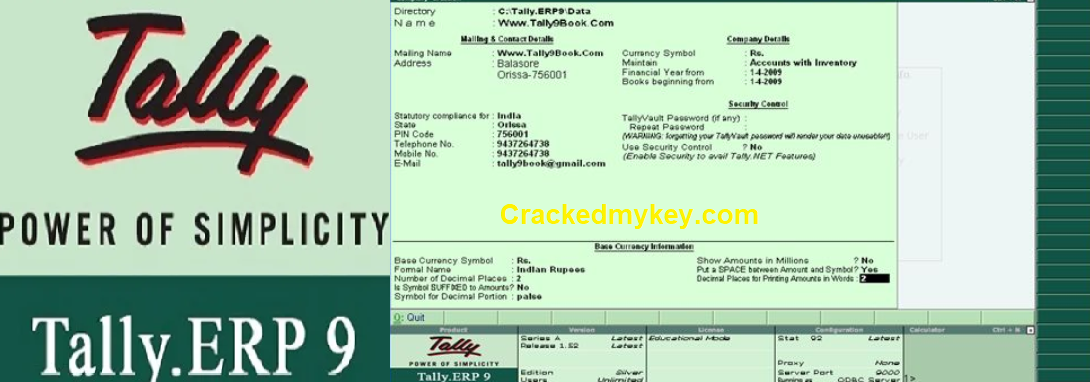 """""""Tally ERP 9 Crack Release 6.6.3 + Serial Key Free Download"""
