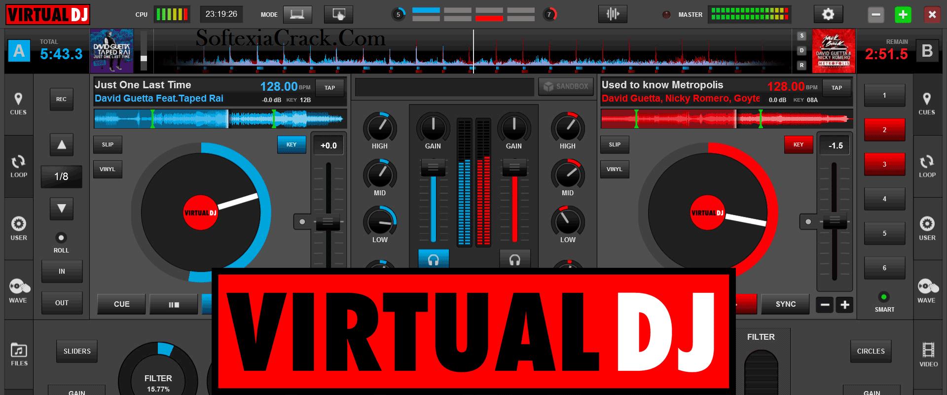 Virtual DJ Pro 2021 Build 6156 Crack + serial number Free Download